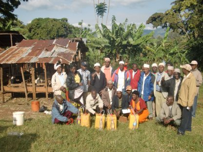 Making bio-fertilizers at Singawa's Farm in Gare